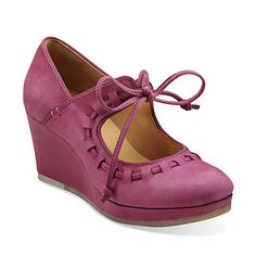 Vogue Blush in Fuschia Leather - Womens Shoes from Clarks