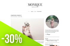 Elegant Wordpress Theme - Monique by LucaLogos on @creativemarket