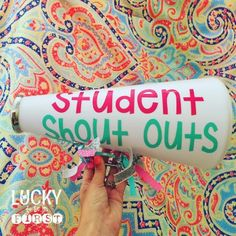 Give your students Shout Outs for their great behavior or other accomplishments!   6 Positive Ways to Build Students Up
