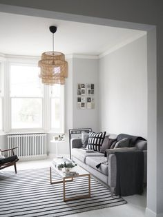 room makeover grey My Scandi-style living room makeover painted white floors and light grey walls - cate st hill Grey Walls Living Room, Living Room Colors, New Living Room, Living Room Designs, Living Room Decor, Small Living, Modern Living, Gray Painted Walls, Gray Walls