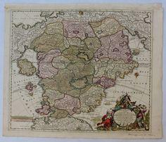 Rare 18th Century Baroque Map of Utopia / Cockaigne / Schlaraffenland (Matthaus Seutter)