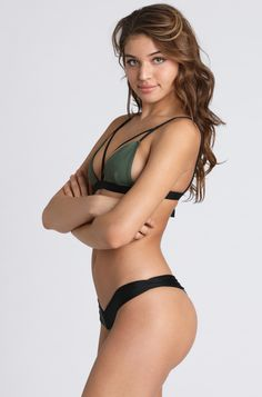 2015 Kai Lani Boom Boom Bottom in Army Green