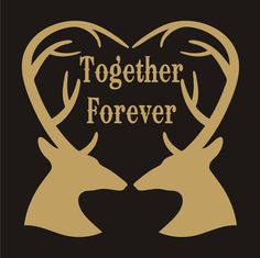 Romantic **Stencil** Together Forever- Deer-  3 sizes- Create Wedding Signs or Romantic Pillows