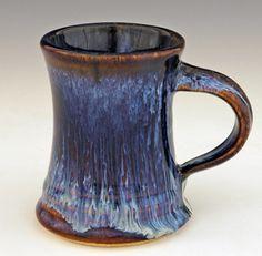 Hourglass Mug - Bill Campbell Studios Slab Pottery, Glazes For Pottery, Pottery Mugs, Ceramic Pottery, Pottery Ideas, Ceramic Cups, Ceramic Art, Pottery Handbuilding, Clay Mugs