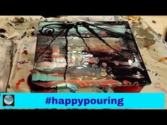 Acrylic Pour: Husband Challenge - YouTube