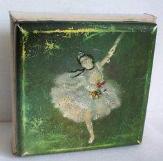 Vintage German TIN BOX Star of the Ballet Edgar by cabinetocurios