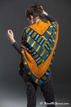 shawl knitting kit cabin on fire