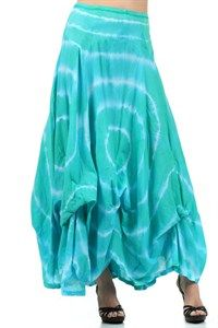 tie dye ruched maxi