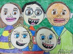 we heart art 1st grade family portraits