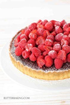 Chocolate Truffle and Raspberry Tart