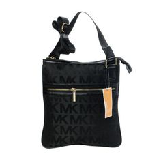 Michael Kors Logo Small Black Crossbody Bags Outlet