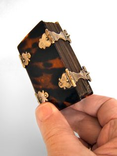 Dutch prayer book in turtleshell binding with hand-made clasps from the 17th century