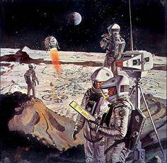 1968 ... '2001' lunar surface- Robert McCall