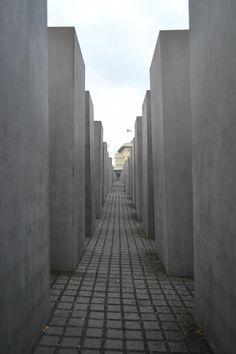 Holocaust Memorial  Berlin - amazing displays underground, then to walk up into the field of monoliths