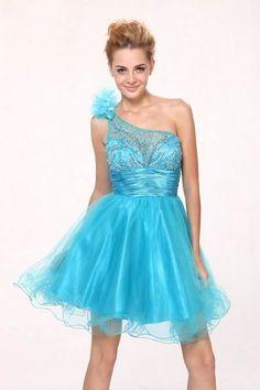 Short Gucci Prom Dresses Blue