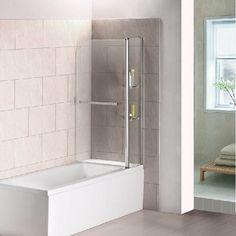 Chrome Framed Bath Screen - Aica Bathrooms