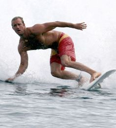 Scott Caan (of Hawaii 5-0) is an actual lifelong established surfur.