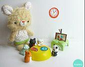 Little teddy bear mohair plush, plush toy , mohair animal, art teddy bears, Amigurumi mohair,