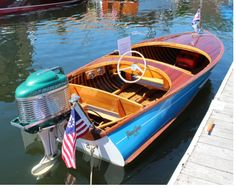 12' Penn Yan Swift Ski Boats, Cool Boats, Small Boats, Penn Yan Boat, Wooden Speed Boats, Boat Restoration, Runabout Boat, Classic Wooden Boats, Boat Engine