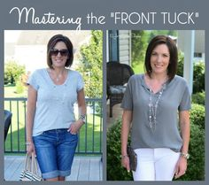 Fashion Over 40: How to Front Tuck Your Shirt