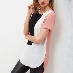 6XL Loose Long Blusas Casual Women Plus Size Patchwork Chiffon Summer  Geometric Blouse 9d0efcc5e0ca