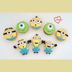 Loving Creations for You: Minions and Monster Mike Macarons with Dark Chocol...