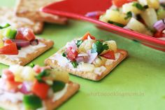 canapes - finger foods are best with good flavor of course