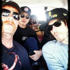 I wanna go where ever they are going!! Michael Cudlitz, Steven Yeun, Danai Gurira, and Norman Reedus