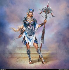 Possibly angel huntress, darker armor for sure.