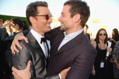 Matthew McConaughey and Bradley Cooper hugged it out at the Critics' Choice Awards.