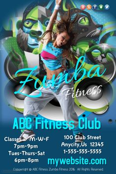 Customize this poster template with your photos and text. Club Flyers, Event Flyers, Building Companies, Dental, Business Flyers, Zumba Fitness, Medical, Templates, Concerts