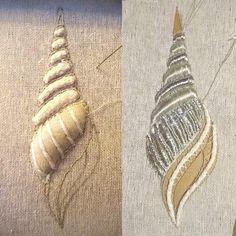 https://www.facebook.com/submarina77/photos Goldwork embroidery, brooch, SubMarina