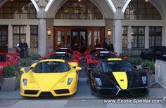 SIX Ferraris Enzo spotted in Samedan, Switzerland