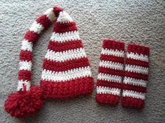 Elf and Leg Warmer Set....Includes a by DarlingBabyCrochet on Etsy