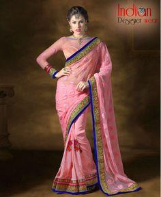 Enticing Soft Pink Saree