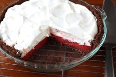 Red Velvet Pudding Pie by annalisesandberg, via Flickr