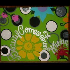 """Canvas painting for college... Yes, I fixed the mis-spelling of """"within""""."""