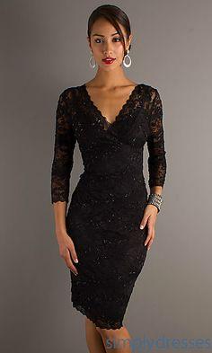 2da24fb156d Black Lace Cocktail Dress at SimplyDresses.com. Also