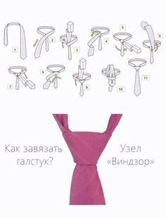 Как завязать самый распространенный узел галстука. Пошаговая инструкция.