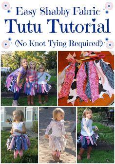 Miss Kopy Kat: No Knot Tying Fabric Tutu Tutorial...make DIY shabby fabric tutus easily and quickly.