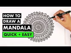 how to draw MANDALA ART for beginners - YouTube