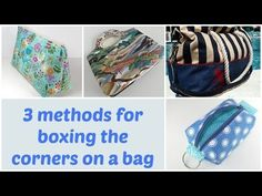 3 methods for boxing corners on bags - So Sew Easy