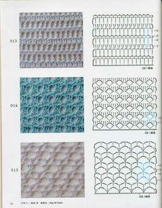 ISSUU - Crochet technique and pattern NV 70142 2012 por Crowe Berry Crochet Stitches Chart, Crochet Motifs, Crochet Diagram, Knitting Stitches, Knitting Patterns, Crochet Patterns, Crochet Patron, Crochet Diy, Stitch Design