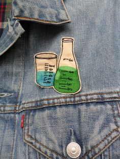Science Beakers Embroidered Patch/Brooch