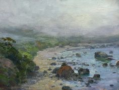 Trinidad Fog by Jim McVicker Blank Canvas - An Interview with Jim McVicker - Master Oil Painting Landscape Art, Landscape Paintings, Landscapes, Oil Paintings, Impressionist Artists, California Art, Acrylic Painting Tutorials, Classic Paintings, Canadian Art