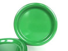 Set Of 4 Ingrid Of Chicago Plates, Mod Melamine Green Dinner Plates, Vintage Modern Plastic Dishes, Chicago Ltd Plastic by HerVintageCrush on Etsy
