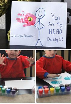 You Are My Superhero Card | DIY Fathers Day Crafts for Kids to Make