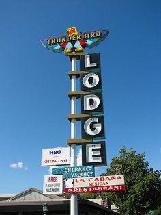 Thunderbird Lodge - Redding, California by Vintage Roadside, via Flickr