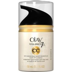 Olay Total Effects 7 In One Anti-Aging Daily Facial Moisturizer Plus Foundation Cream Color, 1.7 oz, Multicolor