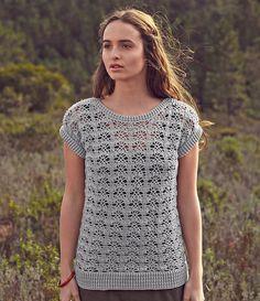 Ravelry: 135 Pull Crochet/ Lace Top by Bergère de France